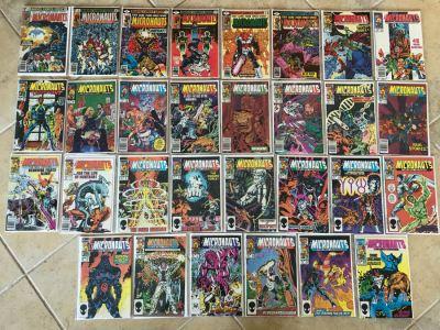 (30) Vintage Marvel Comics The Micronauts Comic Books