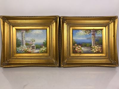 Pair Of Original Landscape Paintings Signed S. William