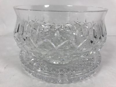 Waterford Crystal Bowl With Plate