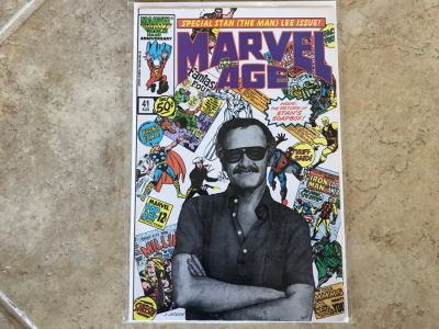 Vintage Marvel Age Comic Book #41 Special Stan (The Man) Lee Cover Photo Issue
