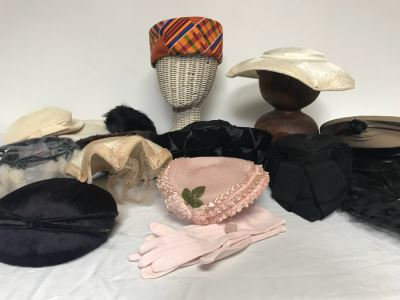 (12) Vintage Women's Hats And Marine Corps Hat