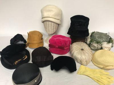(12) Vintage Women's Hats