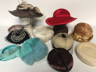 (11) Vintage Women's Hats
