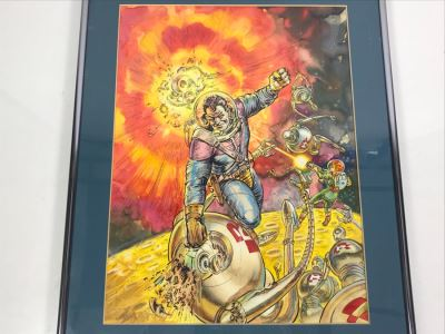 JUST ADDED - Original Science Fiction Artwork Of Kelly Freas From Comic Con International Art Show (Starting Bid Was $1,000 At Comic Con Art Show) 16' X 20'