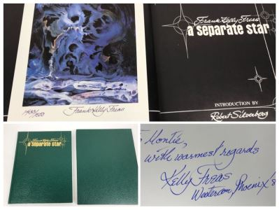 JUST ADDED - Signed Frank Kelly Freas Science Fiction Artist Hardcover Book 'A Separate Star' Includes Signed Limited Edition Print