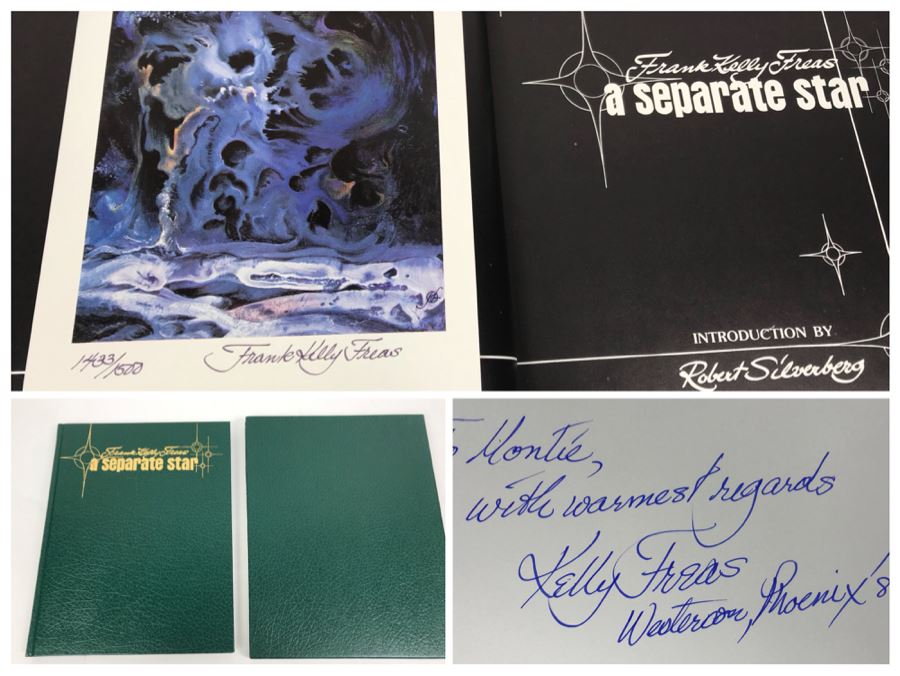 JUST ADDED - Signed Frank Kelly Freas Science Fiction Artist Hardcover Book 'A Separate Star' Includes Signed Limited Edition Print [Photo 1]