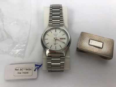 Men's SEIKO 5 Automatic Watch New Old Stock With Vintage Small Metal Box