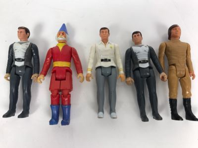 (5) Vintage Mini Action Figures
