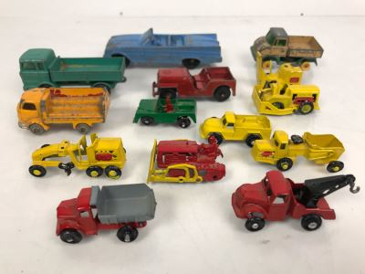 Vintage Metal Toy Cars Vehicles From Tootsie Toys, Lesney Matchbox And Japan