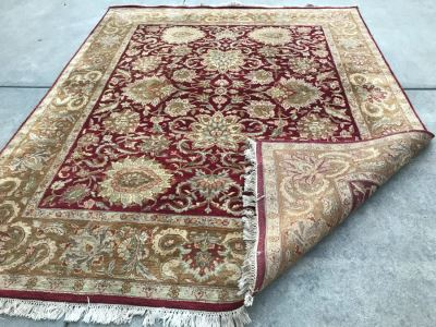 Hand Knotted Wool Persian Area Rug 8' X 10'