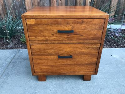 Wooden Filing Cabinet With Dovetail Joints