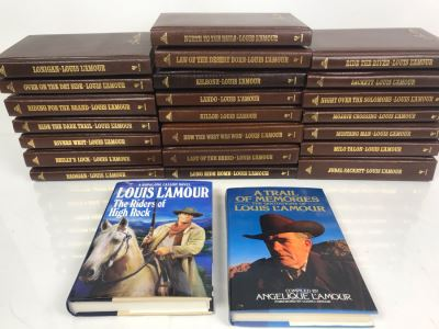 (24) Collection Of Hardcover Louis L'Amour Books