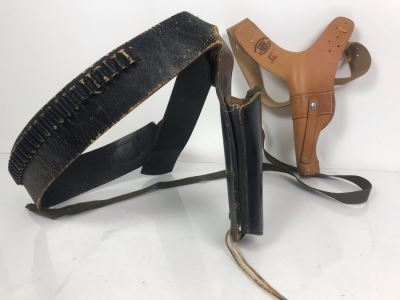Pair Of Leather Gun Holsters