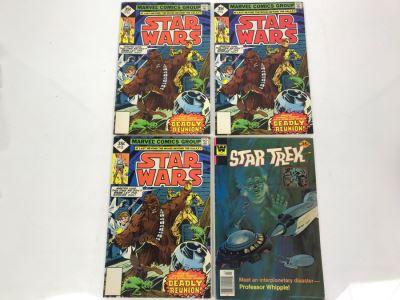 (3) Marvel STAR WARS Comic Books Issue #13 And (1) STAR TREK Whitman Comic Book
