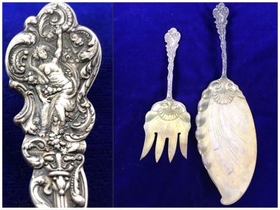 (2) Antique GORHAM Sterling Silver Serving Pieces With Ornate Design 161.6g