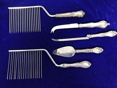 (5) Vintage Sterling Silver Handle Serving Pieces