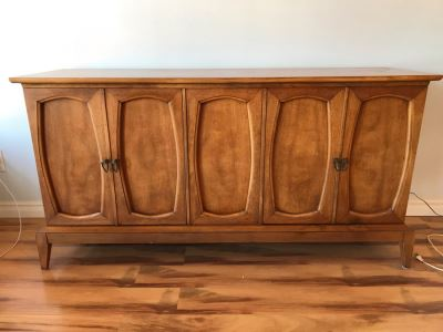 Mid Century 2 Door Buffet Made By Henry M. Goodman 'A Good Man For Good Furniture'
