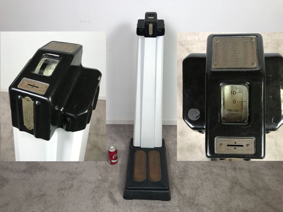 Art Deco Coin-Op Mechanical Scale By The Hamilton Scale Co