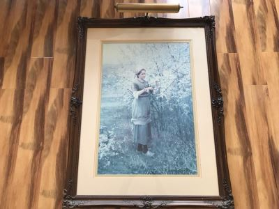 Large Framed Print With Overhead Light By Daniel Ridgway Knight Paris 34' X 44'
