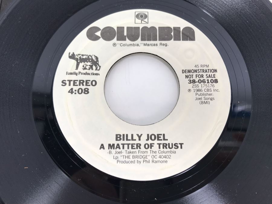 2 Billy Joel Demo Not For Sale 45rpm Vinyl Records A