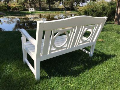 White Wooden Bench #1