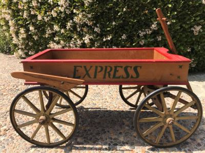 Antique Express Wooden Wagon 38'L X 16'W X 17'H