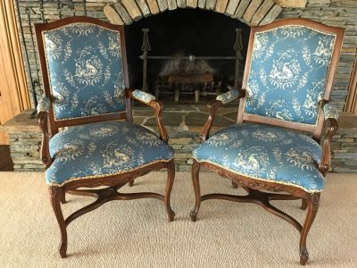 Pair Of Elegantly Upholstered Armchairs