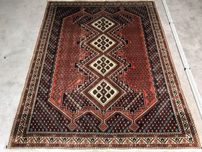 JUST ADDED - Vintage Hand Knotted Wool Persian Rug 68' X 87'