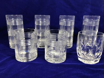 JUST ADDED - (6) Ralph Lauren 'Glen Plaid' Crystal Glasses ($150+ Replacement Value) And Waterford Crystal Glass