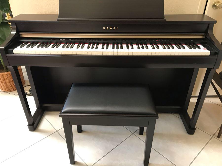 KAWAI CN35 Digital Piano Like New With (2) Piano Benches And Sheet Music [Photo 1]