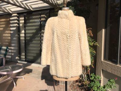 Mid-Century Artic Fox Fur Coat By Hudson's Bay Company Size Small