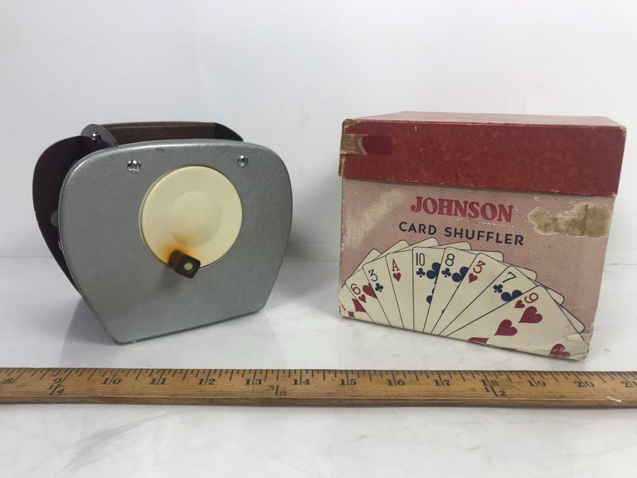Vintage Nestor Johnson Card Shuffler Model No. 50 With Original Box [Photo 1]