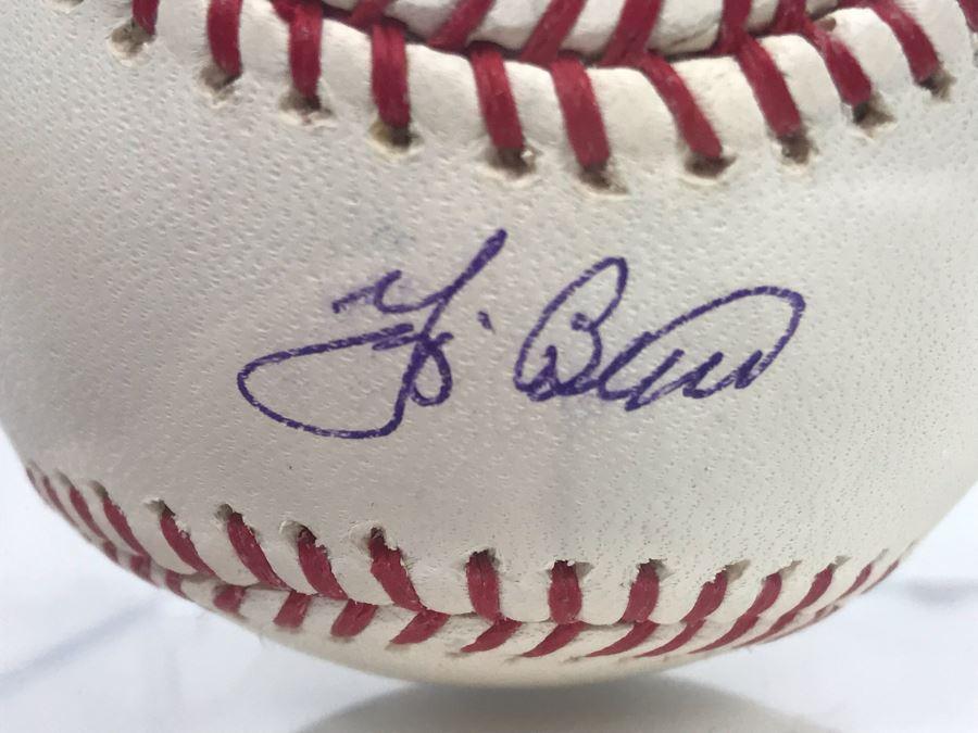 Yogi Berra New York Yankees Signed Rawlings Baseball With Acrylic Display Box [Photo 1]