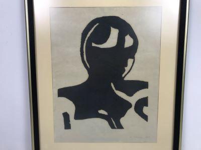 Mid-Century 1967 J. Cooper Signed A.P. Artist Proof Print Framed 14.5' X 18.5'