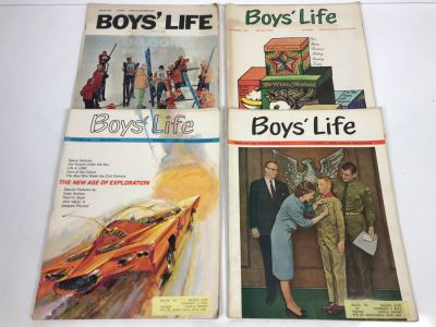 Collection Of (4) Vintage Boys' Life Magazines From 1965