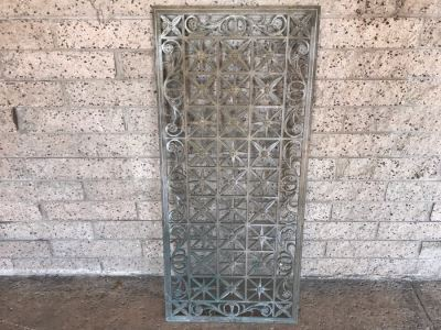 Wrought Iron Metal Rectangular Window