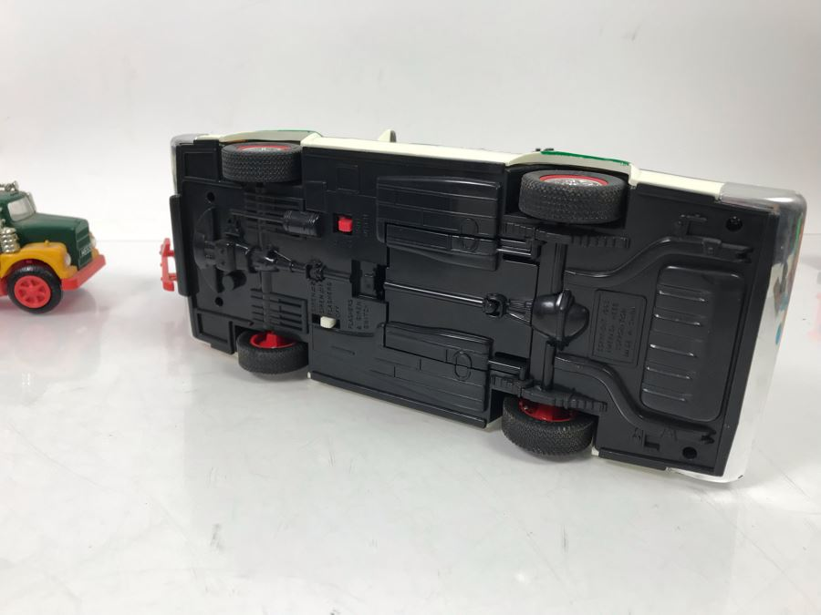 4 Collectible Hess Toy Trucks