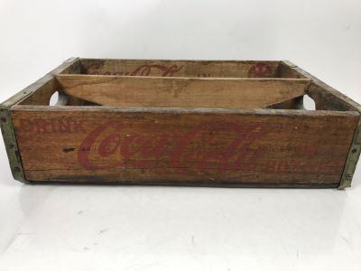 Vintage Bakersfield CA Wooden Drink Coca-Cola In Bottles Crate