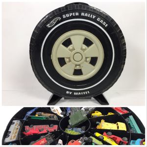 1968 Mattel Hot Wheels Super Rally Case Filled With Various Cars Including Hot Wheels, Goodee, Matchbox And More - See Photos