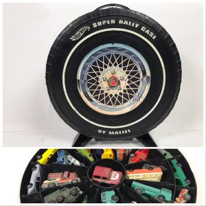 1968 Mattel Hot Wheels Super Rally Case Filled With Various Cars Including Hot Wheels, Matchbox And More - See Photos