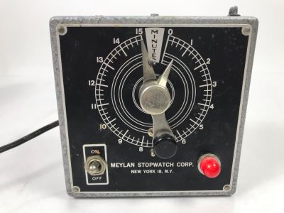 Vintage Meylan Stopwatch Corp Electronic Timer With Buzzer 5'W  X 5'H