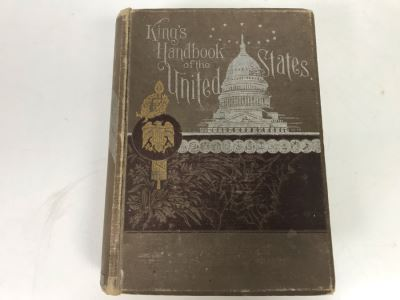 Antique 1892 Kings Handbook Of The United States