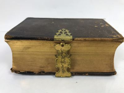 Antique 1860 The Holy Bible By His Majesty's Special Command London England Printed By G. E. Eyre And W. Spottiswoode - Note Binding Needs Repair 6' X 4.5'