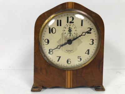Vintage Art Deco Ingraham Eight Day Clock