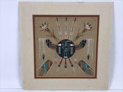 Signed Navajo Sandpainting 8' X 8'