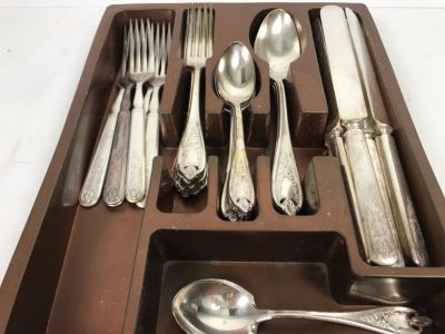 1847 Rogers Bros Silverplate Flatware Set - Two Mixed Patterns