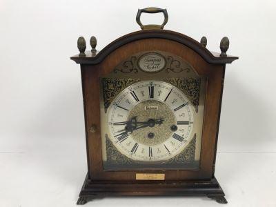Bulova Watch Company Mantle Clock 340-020 Made In West Germany 13'H X 10'W