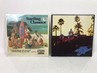 Eagles Hotel California (With Poster) And Surfing Classics Vinyl Records