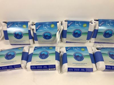 (8) New Inis The Energy Of The Sea Limited Edition Signature Sets With Travel Bag: Cologne, Bath Gel And Lotion Retails $312