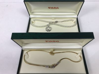 Pair Of New Irish Tara Necklaces Claddagh Retails $319